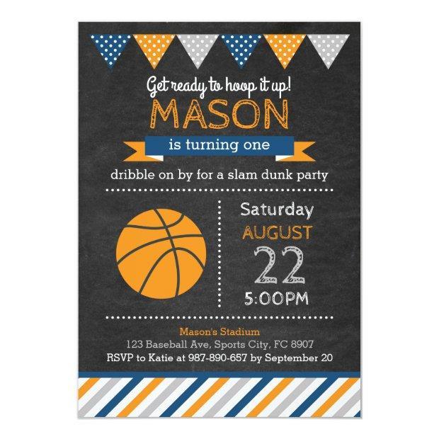 Basketball Birthday Invitations