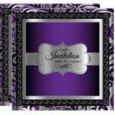 00th surprise birthday | purple metallic & silver invitation