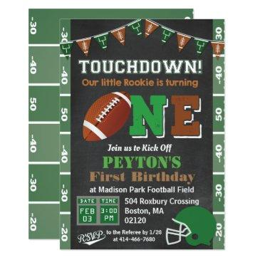 1st birthday football party chalkboard invitation