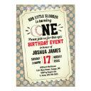 1st birthday sports baseball vintage ticket invitation