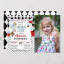 1st first birthday alice in wonderland invitation