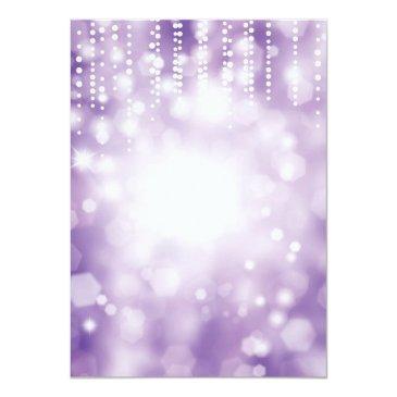 Small 21st Birthday Invitation Purple Glitter Back View