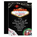 21st birthday vegas casino invitation