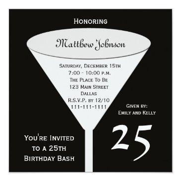 25th Birthday Party Invitations Bash
