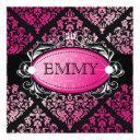 311-luxuriously pink damask 50 and fabulous invitation