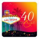 40 & fabulous las vegas birthday party invitation