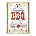 40th birthday bbq invitations