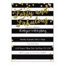 4o and fabulous adult birthday invitation