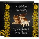 50 fabulous and cuddly birthday party cats invitations