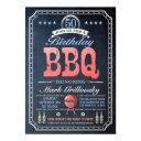 50th birthday bbq invitations | chalkboard