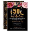 50th birthday invitation for women