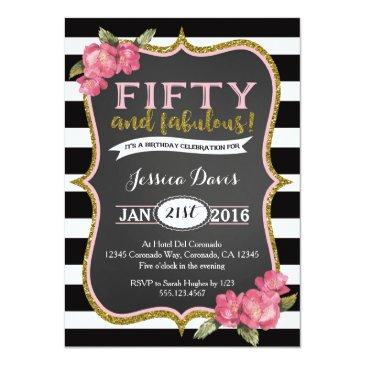 50th birthday party invitations adult fifty invite