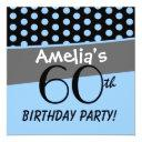 60th birthday polka dots modern template