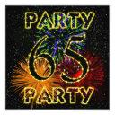 65th birthday party invitations with fireworks