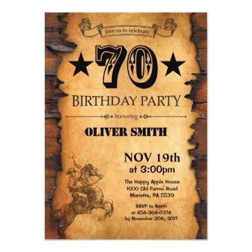 70th western birthday invitations
