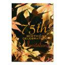 75th birthday celebration autumn custom invitations
