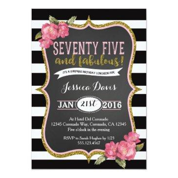 75th surprise luncheon birthday party invitations