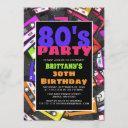 80's themed birthday invitation