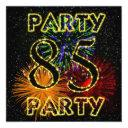 85th birthday party invitations with fireworks