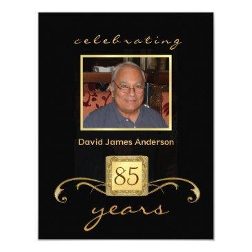 85th birthday party invitations - formal monogram
