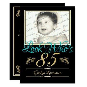 85th Birthday Photo Invitation