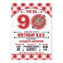 90th birthday barbecue invitations