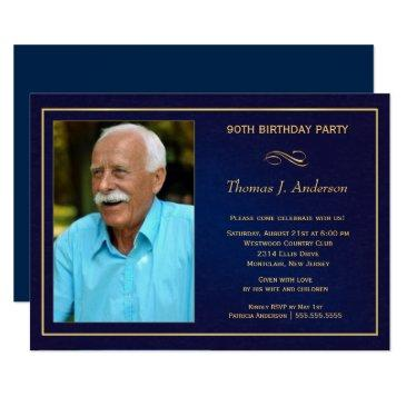 90th birthday party invitations - add your photo