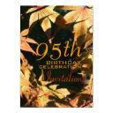 95th birthday celebration autumn custom invitations
