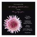 95th birthday party invitation gorgeous gerbera