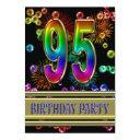 95th birthday party invitations with bubbles