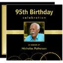 95th birthday party invitations - photo optional