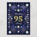 95th birthday party invite with masses of jewels