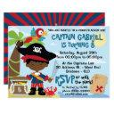 african american boy pirate party invitations