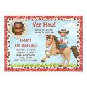 african american cowboy horse kids birthday party invitation