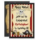 ahoy mate! pirate boys birthday party invitations