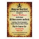 ahoy me hearties pirate birthday party invitations