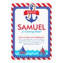 ahoy! nautical birthday party invitations