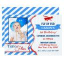 airplane birthday invitation | photo invite