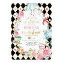 alice in onederland birthday mad hatter tea party invitation