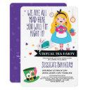 alice wonderland tea party | virtual birthday invitation