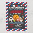 all star sports birthday invitation for boys