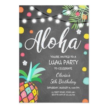 aloha tropical birthday party invite hawaii luau