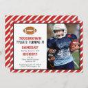 american football photo birthday invitation