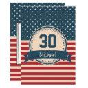american stars stripes flag birthday invitation