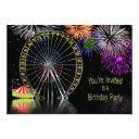amusement park theme birthday invitations