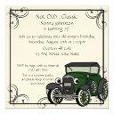 antique car birthday invitation