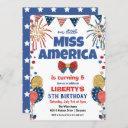 any age - 4th of july birthday party invitation