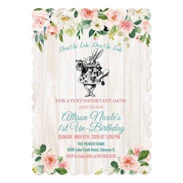 any age - alice in wonderland birthday invitation