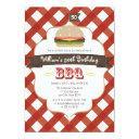 any age bbq birthday party invitation