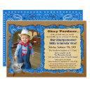 any age - cowboy birthday photo invitation